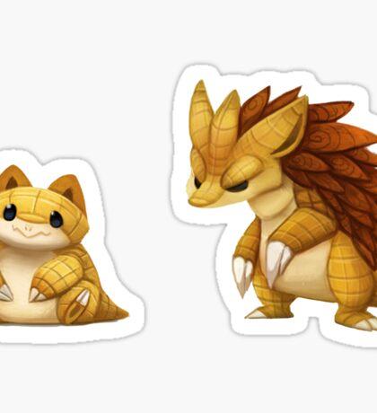 Pokemon Sandshrew Evolution Sticker