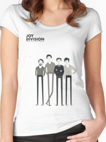 Joy Division Band Women's Fitted Scoop T-Shirt