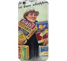 Vintage poster - Bird's Custard iPhone Case/Skin