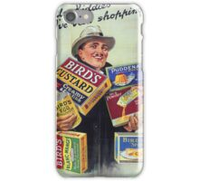 Vintage poster - Bird's Custard iPhone Case/Skin