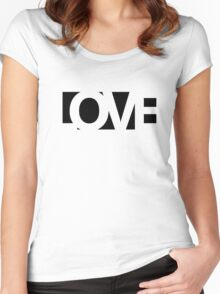 Love - version 1 - black Women's Fitted Scoop T-Shirt