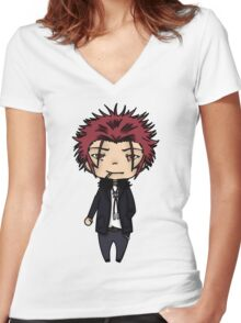 Mikoto Suoh - K project  Women's Fitted V-Neck T-Shirt