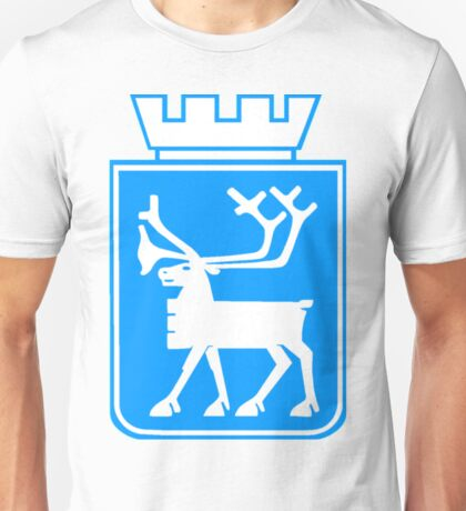 Coat of Arms of Tromso, Norway. Unisex T-Shirt