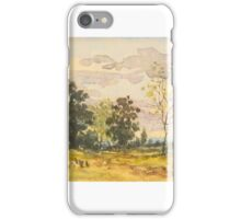 Henri-Joseph Harpignies  LANDSCAPE WITH ONE BARE TREE iPhone Case/Skin