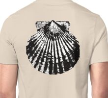 SHELL, CLAM, Scallop Shell, Scallops, bivalve, ON BLACK Unisex T-Shirt