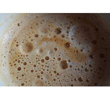 Just A Frothy Coffee Photographic Print