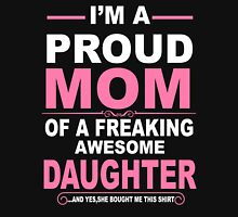 Proud Mom Of A Freaking Awesome Son Womens Fitted T-Shirt