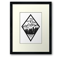 Nature Diamond Framed Print
