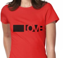 Love long - version 1 - black Womens Fitted T-Shirt