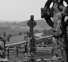 Cemetery at the Rock of Cashel Sticker
