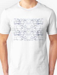 Robin Toile de Jouy Inspired Blue Unisex T-Shirt
