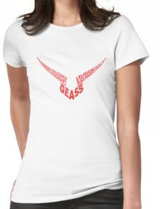 Code Geass Typography Womens Fitted T-Shirt