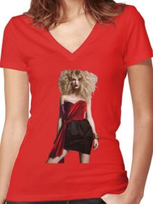 Punk Rock Taylor Swift Women's Fitted V-Neck T-Shirt