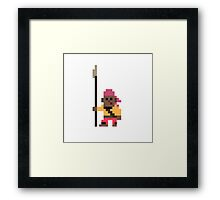a pirate halfling with a spear Framed Print