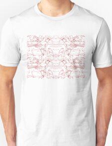 Robin Toile de Jouy Inspired Red Unisex T-Shirt