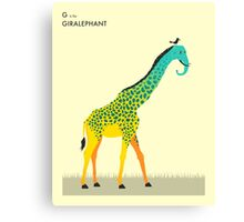 G is for GIRALEPHANT Canvas Print