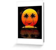 Sweet Smile of Sunset Greeting Card