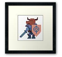 a minotaur mage hunter, with a giant heavy armour Framed Print
