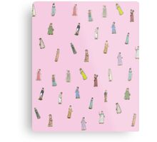 Austen Characters - Bubblegum Pink Metal Print