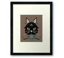 Black Bunny Framed Print