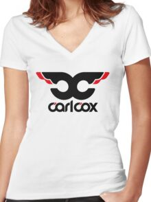 Dj Carl Cox Women's Fitted V-Neck T-Shirt