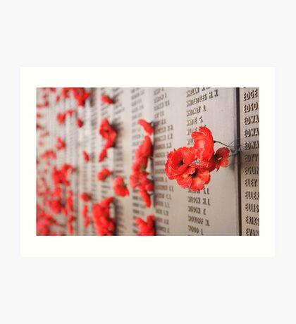 Soldiers Memorial, AWM, Canberra Art Print