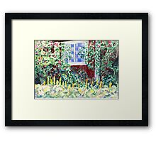 Idyllic Swedish Garden Impression Framed Print