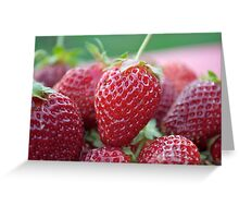 Strawberries Fresh Picked Greeting Card