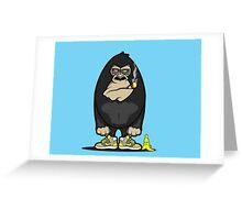 Smoking kong Greeting Card
