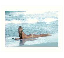 Brigitte Bardot beach Art Print