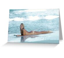 Brigitte Bardot beach Greeting Card