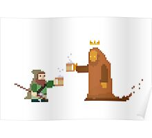 ranger dwarf with staff, fraternizing with king Poster