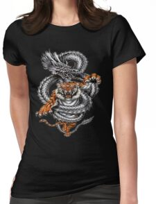 The tiger and the dragon Womens Fitted T-Shirt