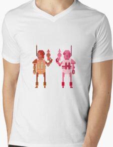 world explorer with a laser gun Mens V-Neck T-Shirt