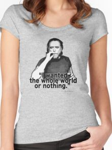 Charles Bukowski 4 Women's Fitted Scoop T-Shirt