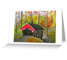 Flume Covered Bridge, Lincoln NH Greeting Card