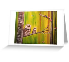 Owl Duo Greeting Card