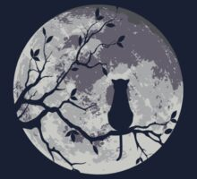 THE CAT AND THE MOON by fmstyle
