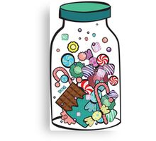 Jar with sweet candies Canvas Print