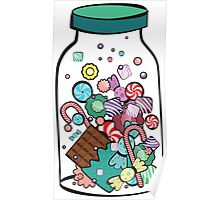 Jar with sweet candies Poster