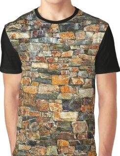 Stacked Stone Texture Graphic T-Shirt