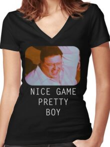 Nice Game Pretty Boy Women's Fitted V-Neck T-Shirt