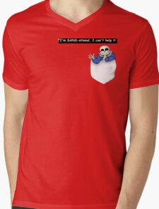Pocket Sans Undertale Mens V-Neck T-Shirt