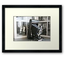 Of its time ....Antique Kodak Folding Autographic Brownie  Framed Print