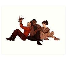 SW: New Trio Art Print