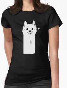 Undertale Dog Womens Fitted T-Shirt