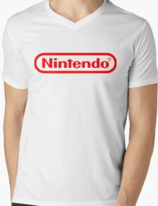 Nintendo logo HQ Mens V-Neck T-Shirt