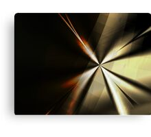 Brown and Gold Minimal Art Canvas Print