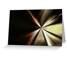 Brown and Gold Minimal Art Greeting Card