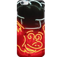 Neon Sign - BBQ Pig Chef iPhone Case/Skin